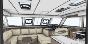 New Inside steering Nautitech 47 Power catamaran2