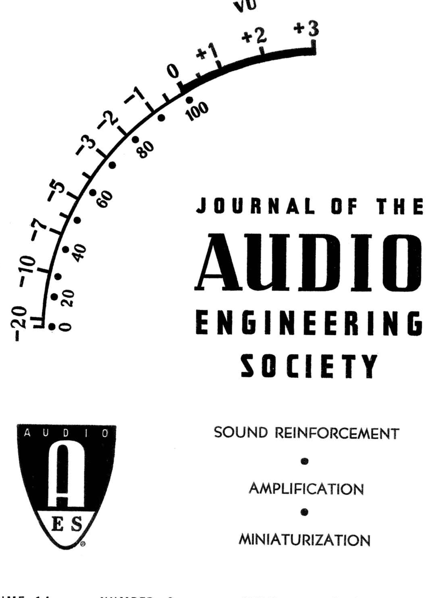 Aes E Library Complete Journal Volume 14 Issue 2