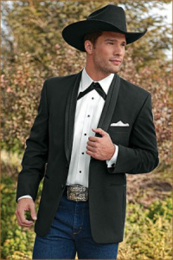 Country formal wear. (source:http://www.blacktieguide.com/blog/2013/12/18/the-western-tuxedo/)