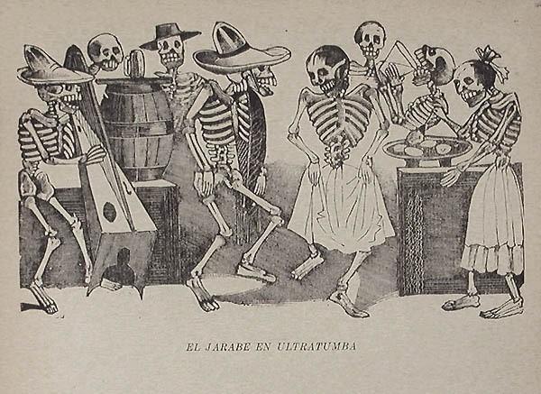 The Folk Dance Beyond The Grave, Artist José Guadalupe Posada