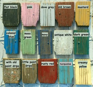 Shabby Chic color samples. Image: http://www.arusticgarden.com/anpala.html