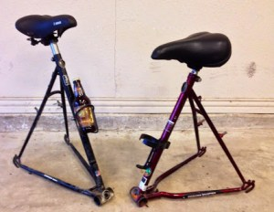 bike frame stools