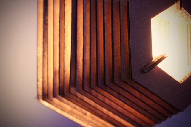 Cardboard Hexagon Lamp – Aesthetics of Design