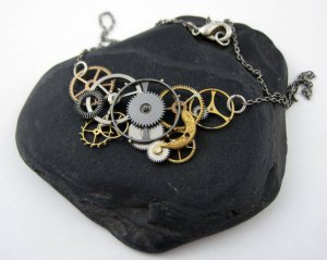 Mixed Gear Necklace [2]