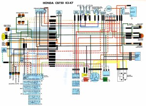 Honda-CB750K3-K7-Wiring-diagram