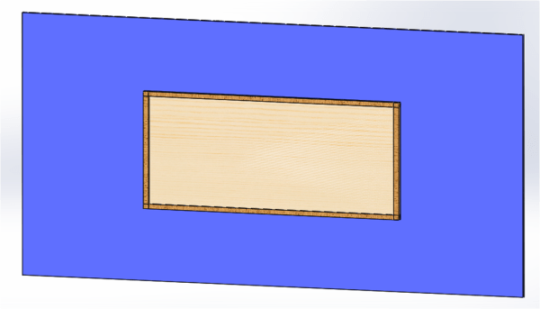 Initial Wooden Glass Board Design on Wall