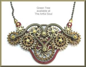 [1] Balsa Wood Gear Necklace