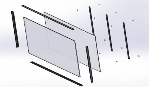 Figure 4: Exploded view of writing board assembly