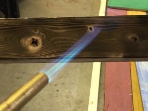 Burning the frame