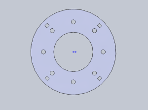 CAD image of base (normal view)