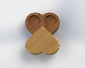 Rendering - Heart Shape - Open
