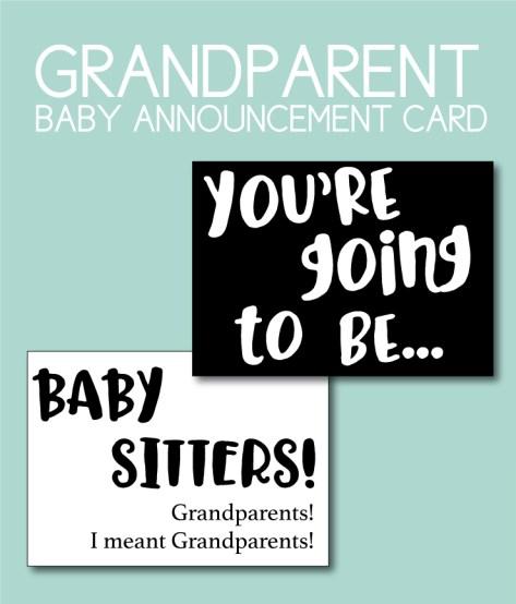 Grandparent Baby Announcement Card