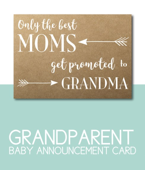 Baby Announcement for Grandma