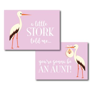 Funny Card for the New Aunt