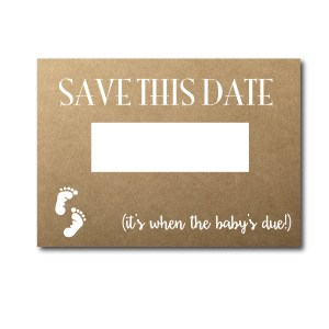 Rustic Save the Date Card for Baby