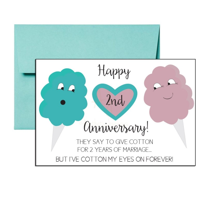 Second Anniversary Card
