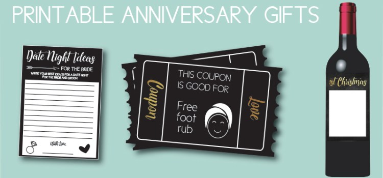 Printable Anniversary Gifts