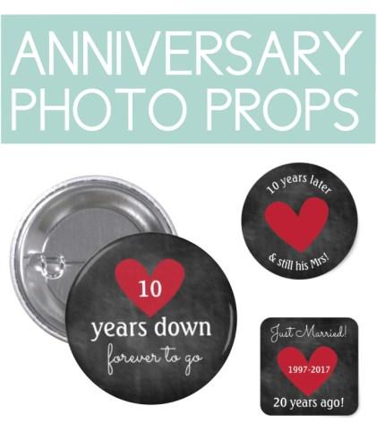 Anniversary Photo Props