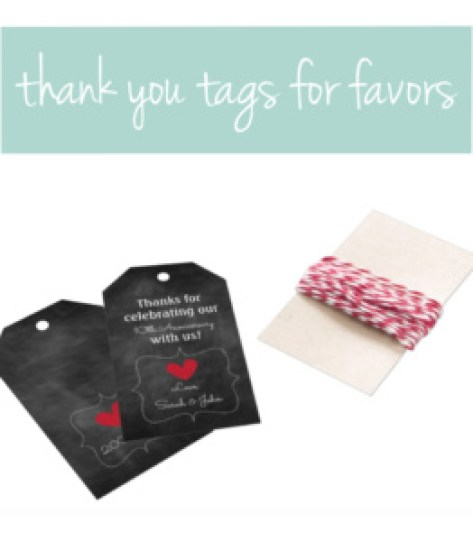Anniversary Thank You Tags