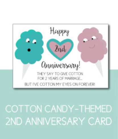 Cotton (candy) Anniversary Card