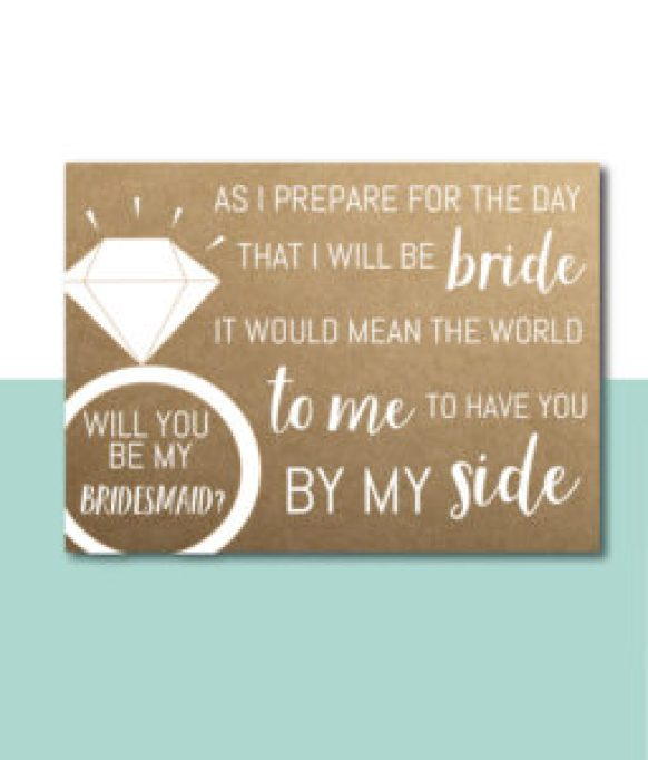 Have You By My Side Bridesmaid Card