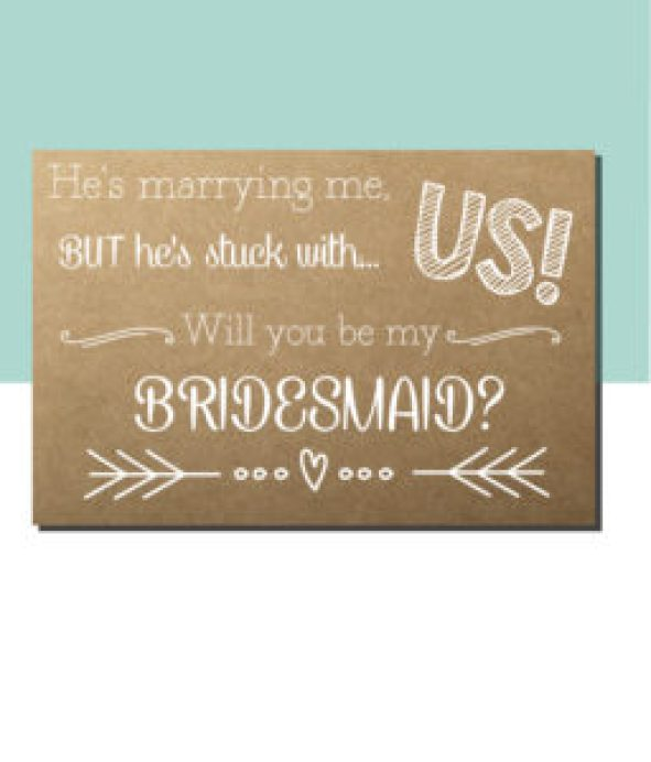 Stuck with Us Bridesmaid Ask Card