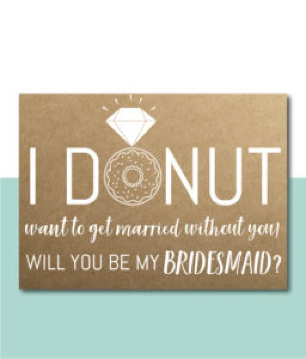 Donut Themed Bridesmaid Ask