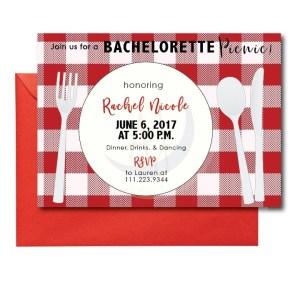 Picnic Themed Bachelorette Invite