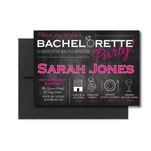 Bachelorette Chalkboard Invite