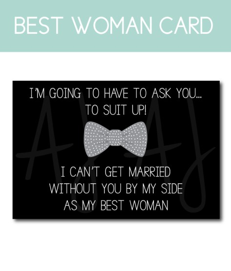 Best Woman Card for the Friend of the Groom