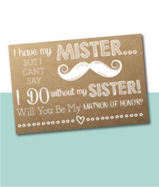 I Have My Mister Bridesmaid Card