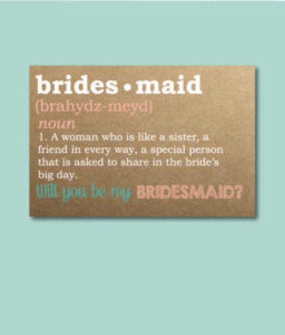 Bridesmaid Defined Ask Card