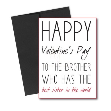 Valentine's card for brother