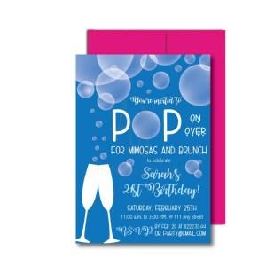 Bubbles Party Invite