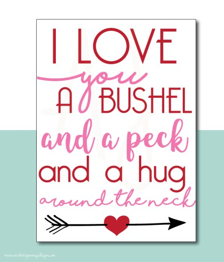 Fun Valentines Day Quote Printable Sign