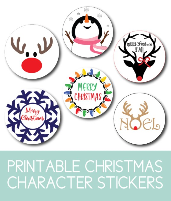 Cute Character Stickers for Christmas