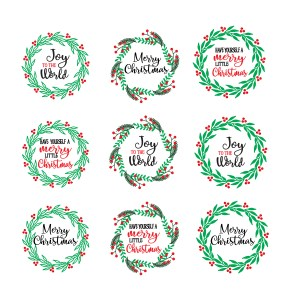 Red and Green Christmas Stickers