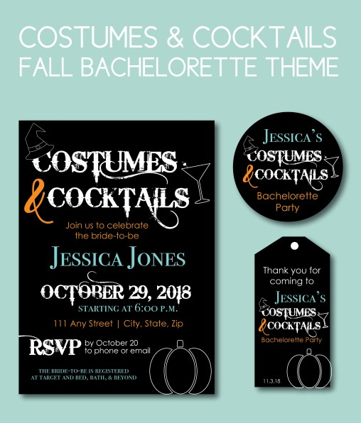 Costumes and Cocktails Fall Bachelorette