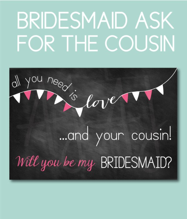 Bridesmaid Card for the Cousin's bridal party gift