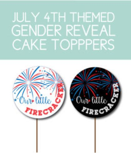 July 4th Gender Reveal Toppers