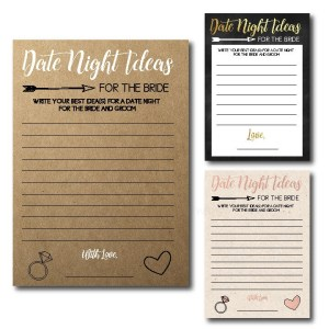 Date Night Ideas Bridal Shower Game