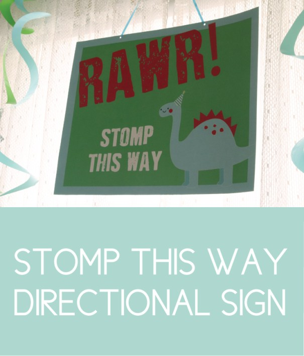 Stomp this Way Directional Sign