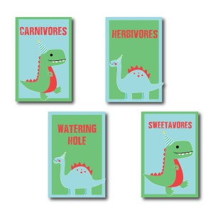 Dinosaur Party Signs for Food