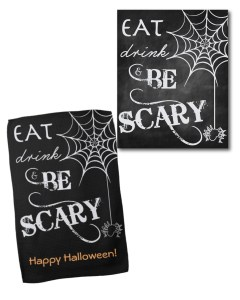 Eat, Drink, & Be Scary Kitchen Towel