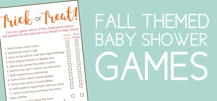 Fall Baby Shower Games