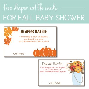 Download Free Fall Themed Diaper Raffle Cards