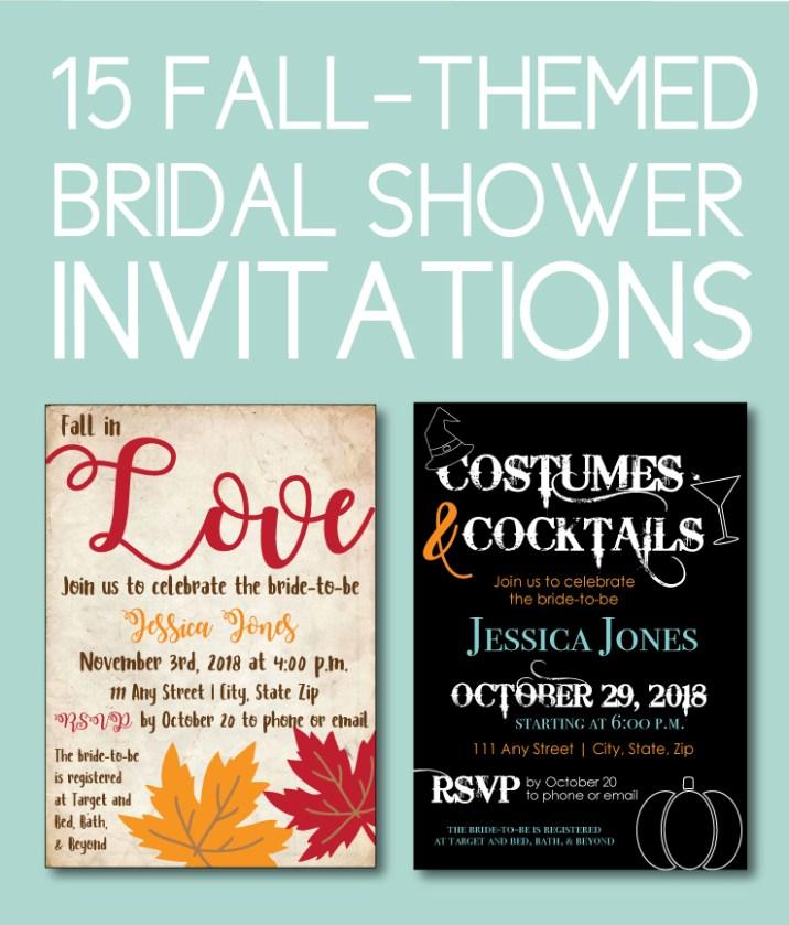 Fall Bridal Shower Invites