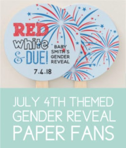 4th of July Themed Fans for Gender Reveal