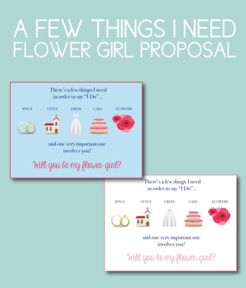 There's a Few Things I Need Flower Girl Proposal