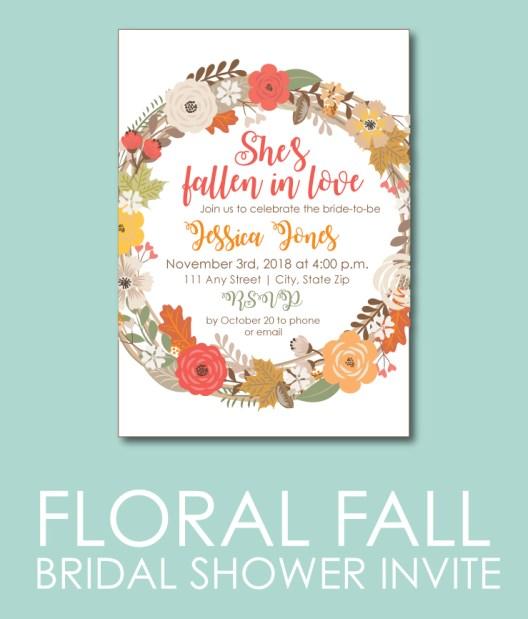 Floral Fall Bridal Shower Invite